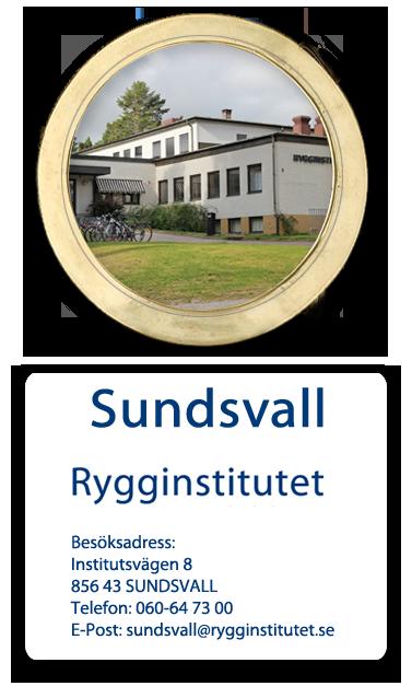 Ryggkliniken I Sundsvall | Rygginstitutet